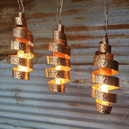 """14"""" x 6"""" Copper Spiral Light"""