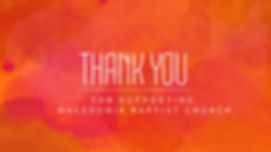 Copy of Orange Thank you Church Template