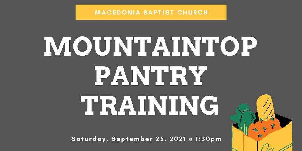 MountainTop Pantry Training