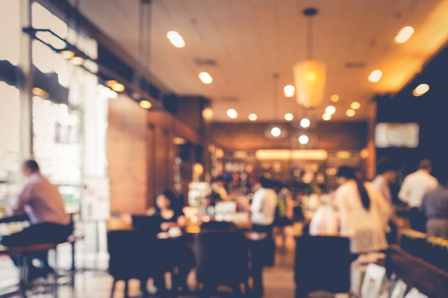 Blur coffee shop  or cafe restaurant wit