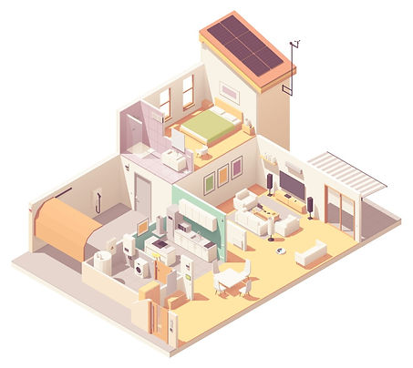 vector-isometric-house-crosssection-vect