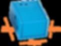 blå plastkapsling