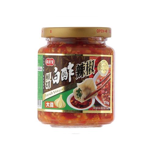大蒜-鮮切白醡辣椒