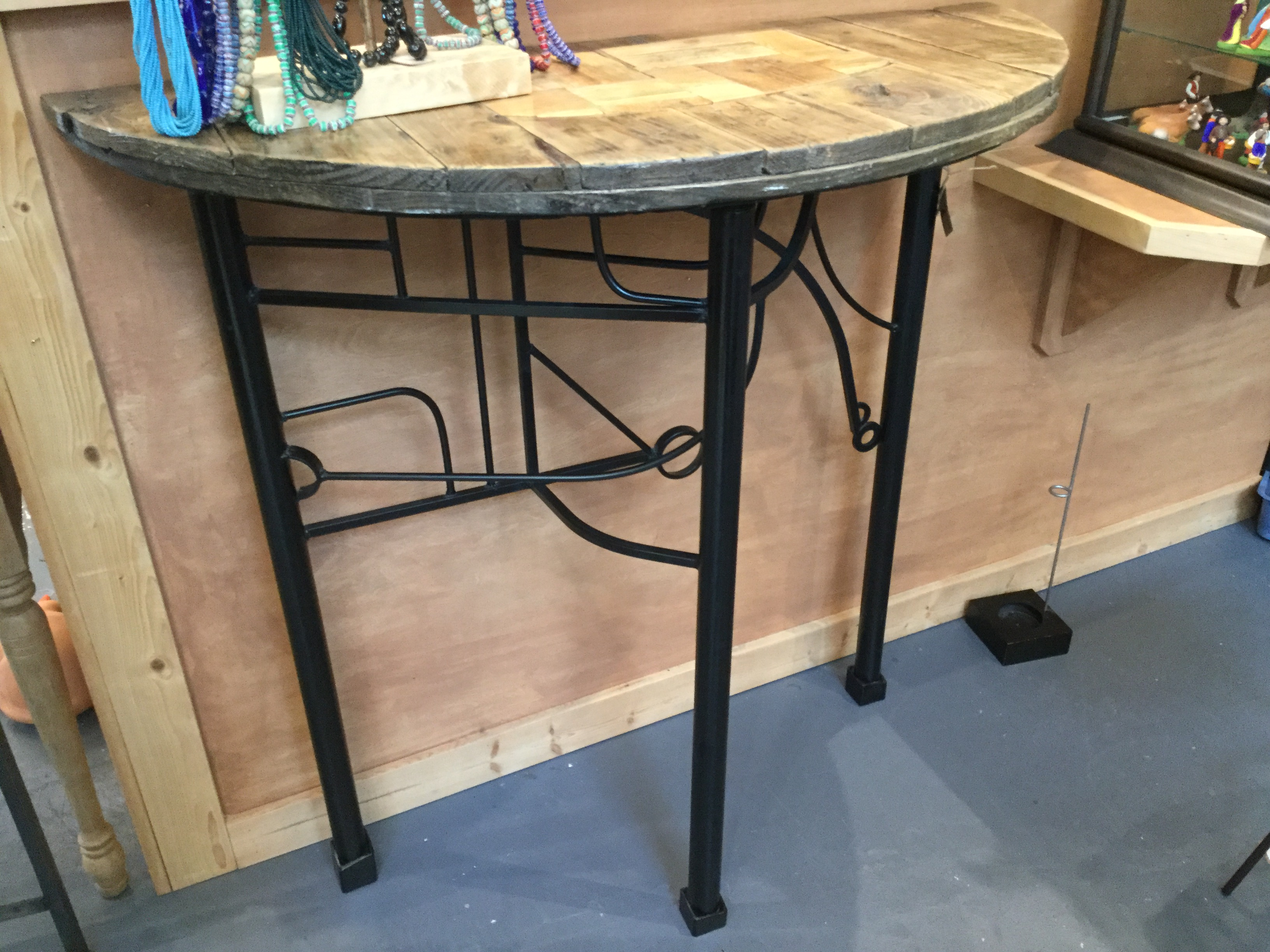Custom Metal & Reclaimed Wood Table