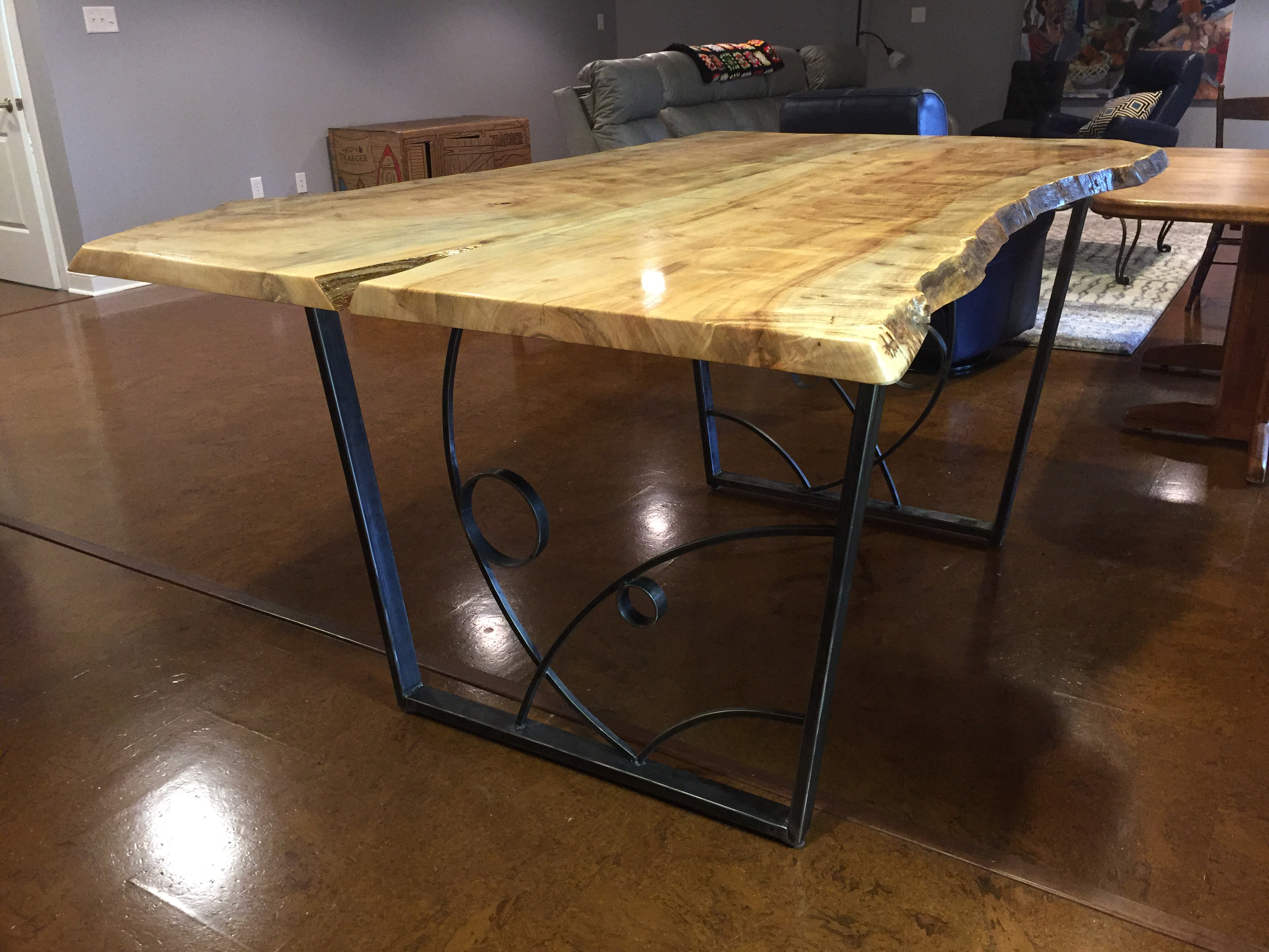 Live Edge Table (collaboration with woodworker Keith Beam)