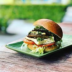 Mushroom Haloumi Burger