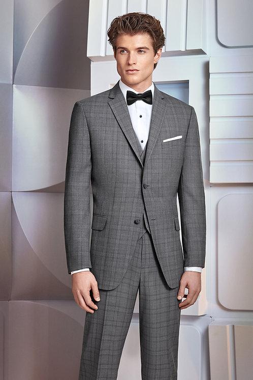 231 - Ultra Slim Grey Plaid Hamilton Suit