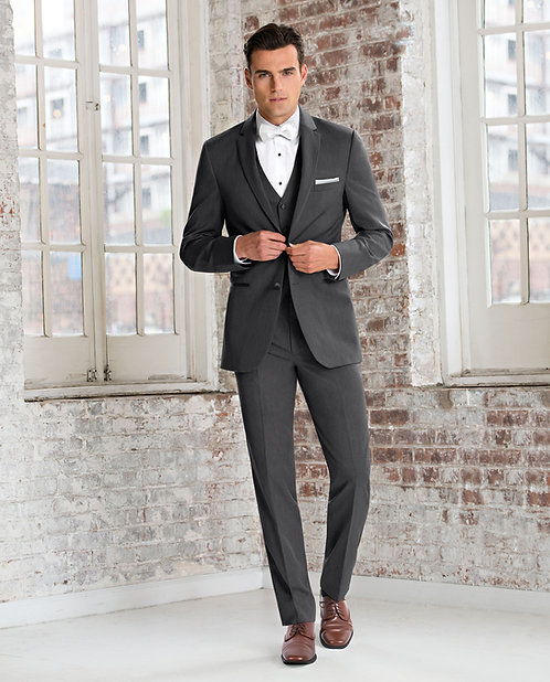 391 - Ultra Slim Steele Grey Wedding Suit