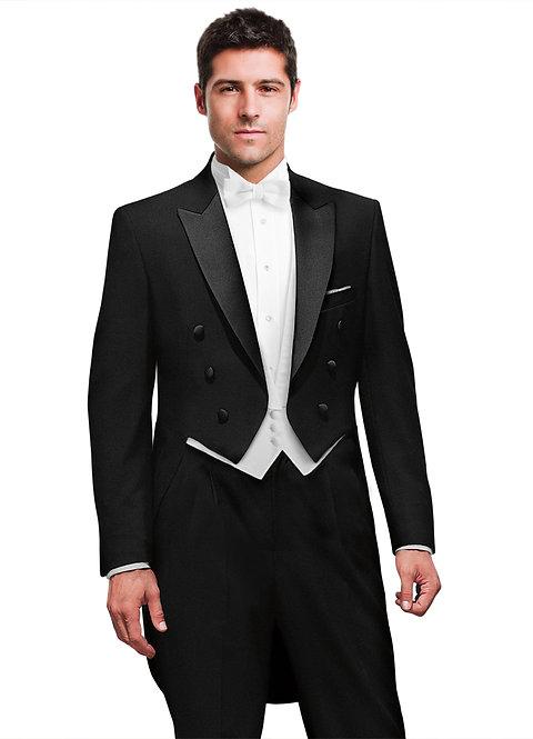 C998 - Black Peak Full Dress Tailcoat