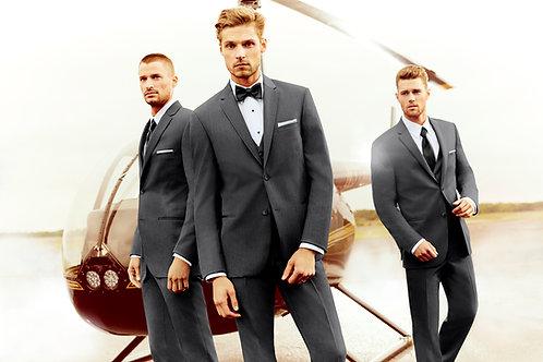 392 - Slim Steel Grey Sterling Wedding Suit