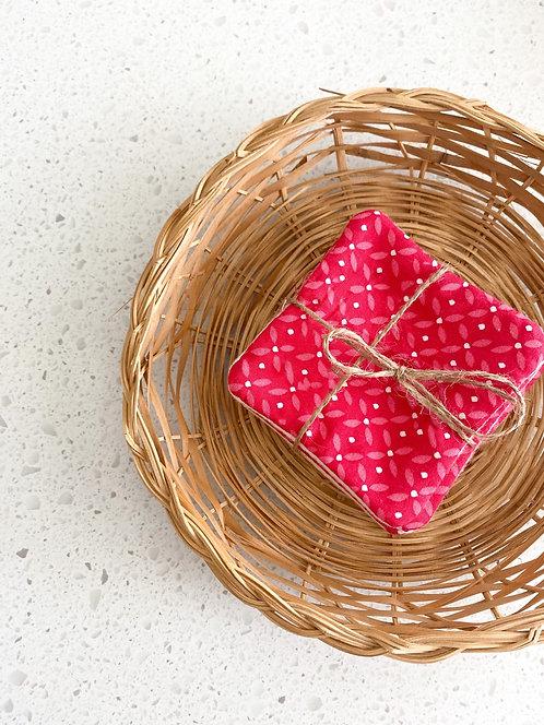Cotons démaquillants - Rose bonbon