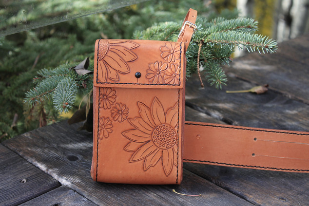 Flower Flask Saddle Case