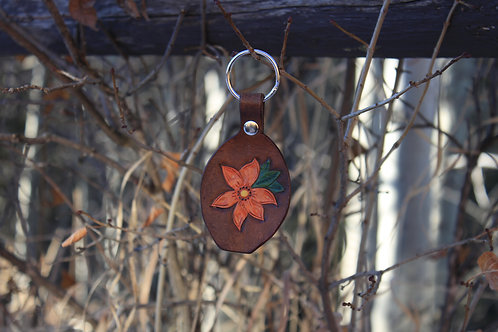 Orange Flower Key Chain