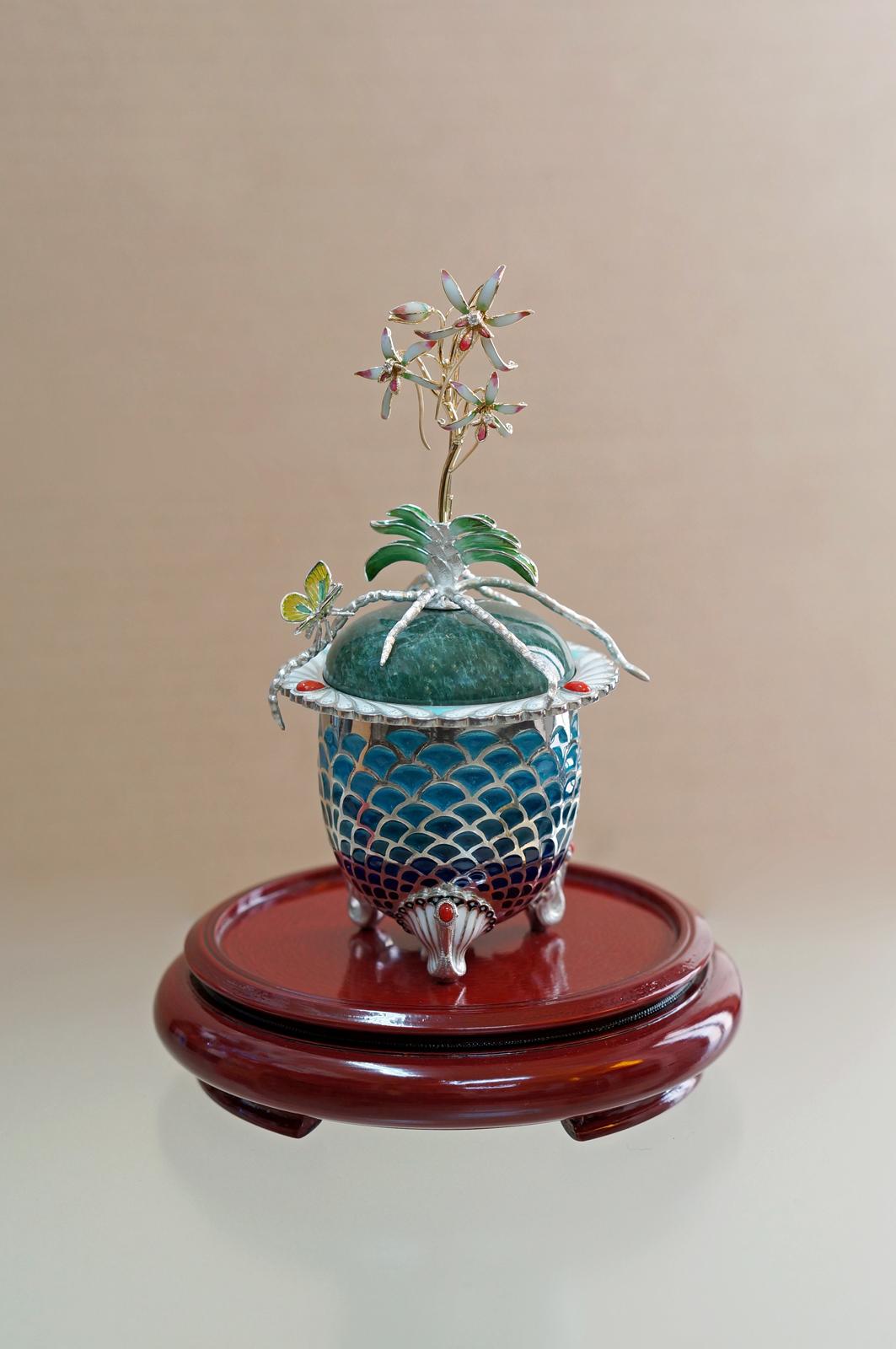 富貴蘭 plique-à-jour enamel