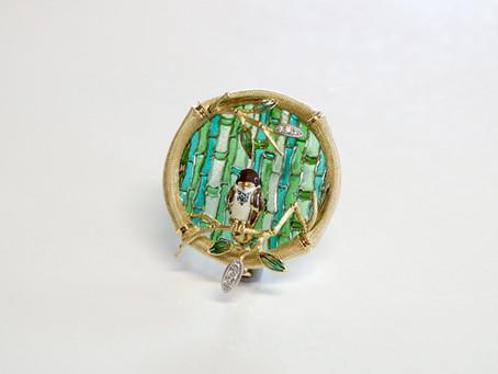「竹に雀」
