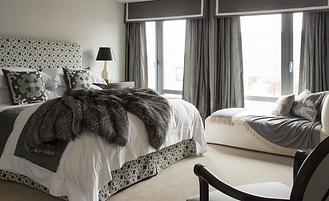 Custom bedding hand made fort myers florida interior design