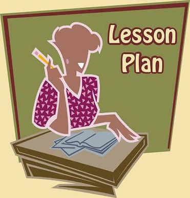 Lesson plan teacher desk