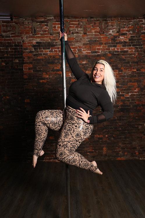 BLAIR (Black Lacy Adaptable Impressive Resilient) Goddess Grip Leggings