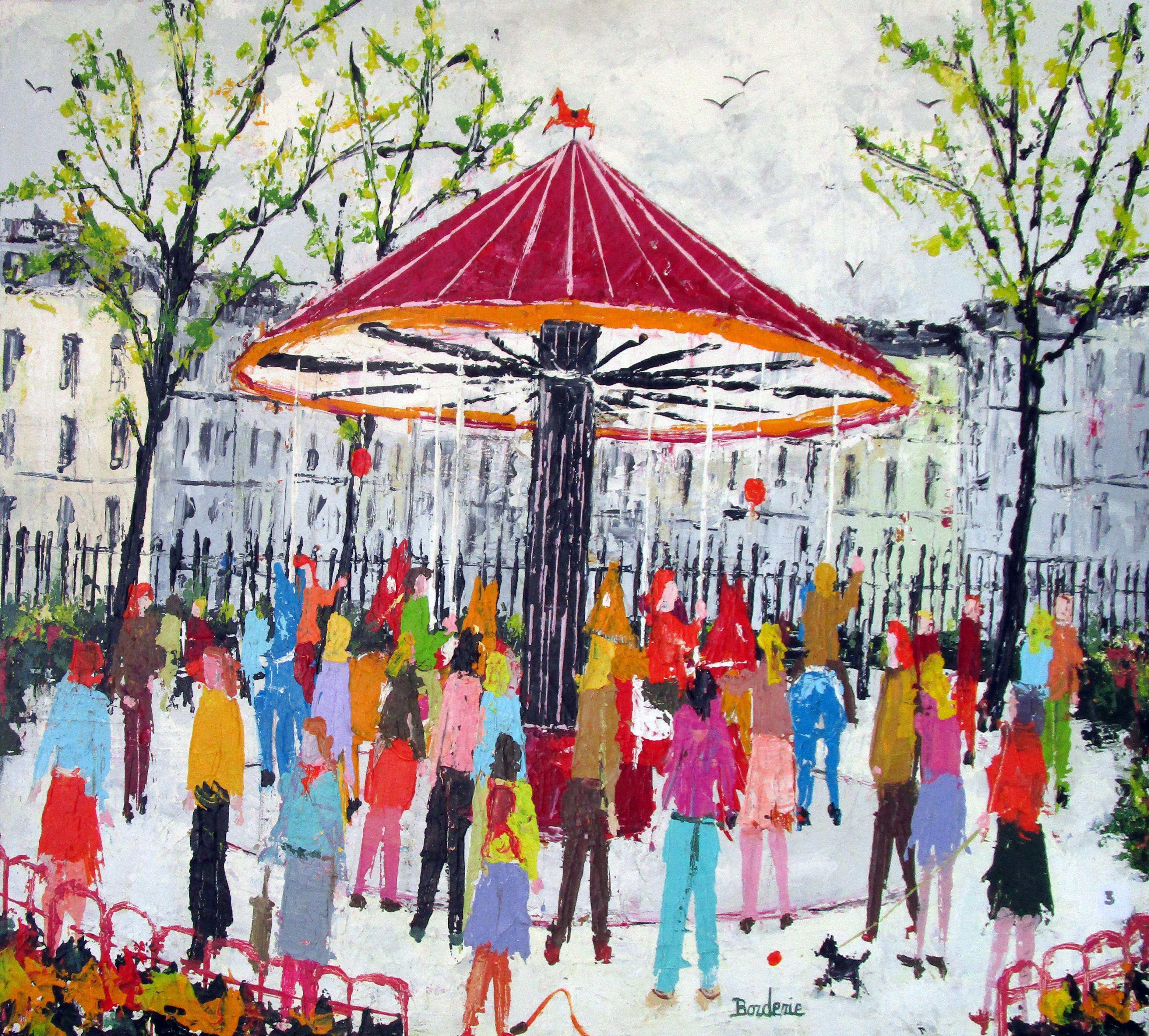 Manège dans un jardin. 73X54 (2011)