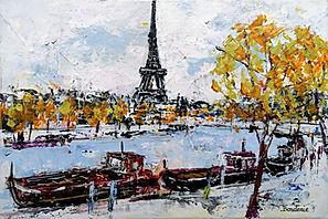 Les péniches sur la Seine  33X22.jpg