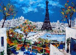 Belles terrasses à Paris.