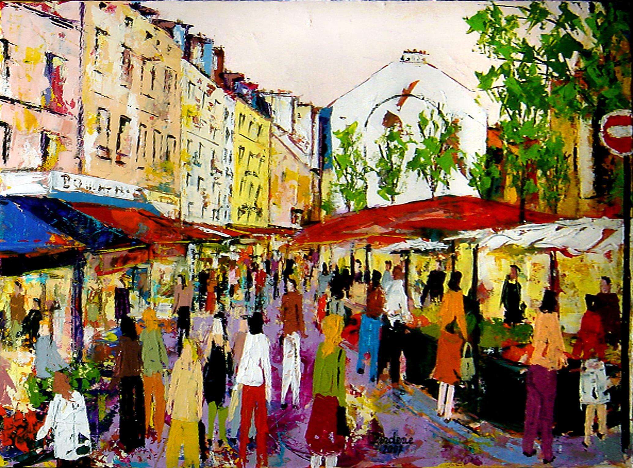 Le marché de la rue Mouffetard.