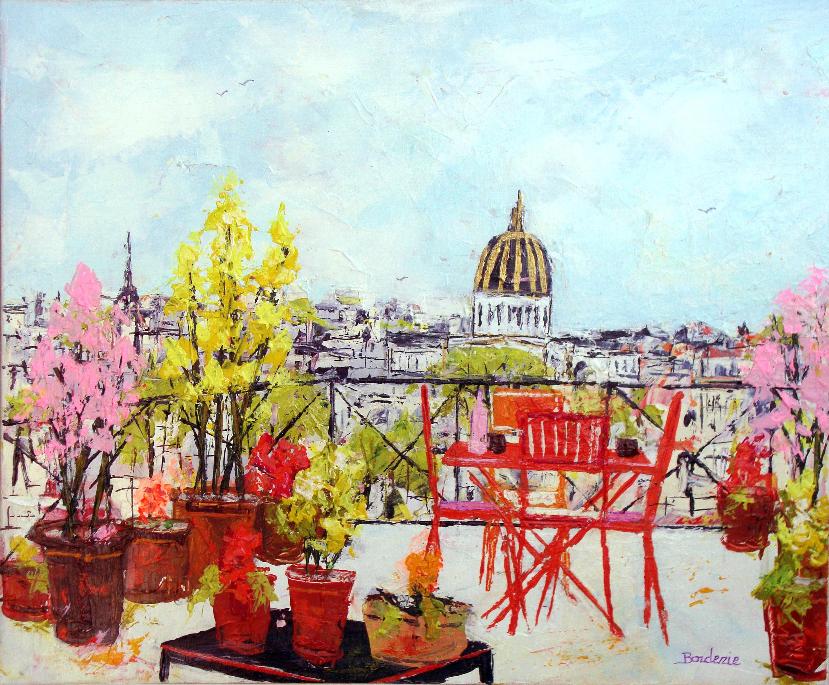 Terrasse fleurie sur Paris 10F