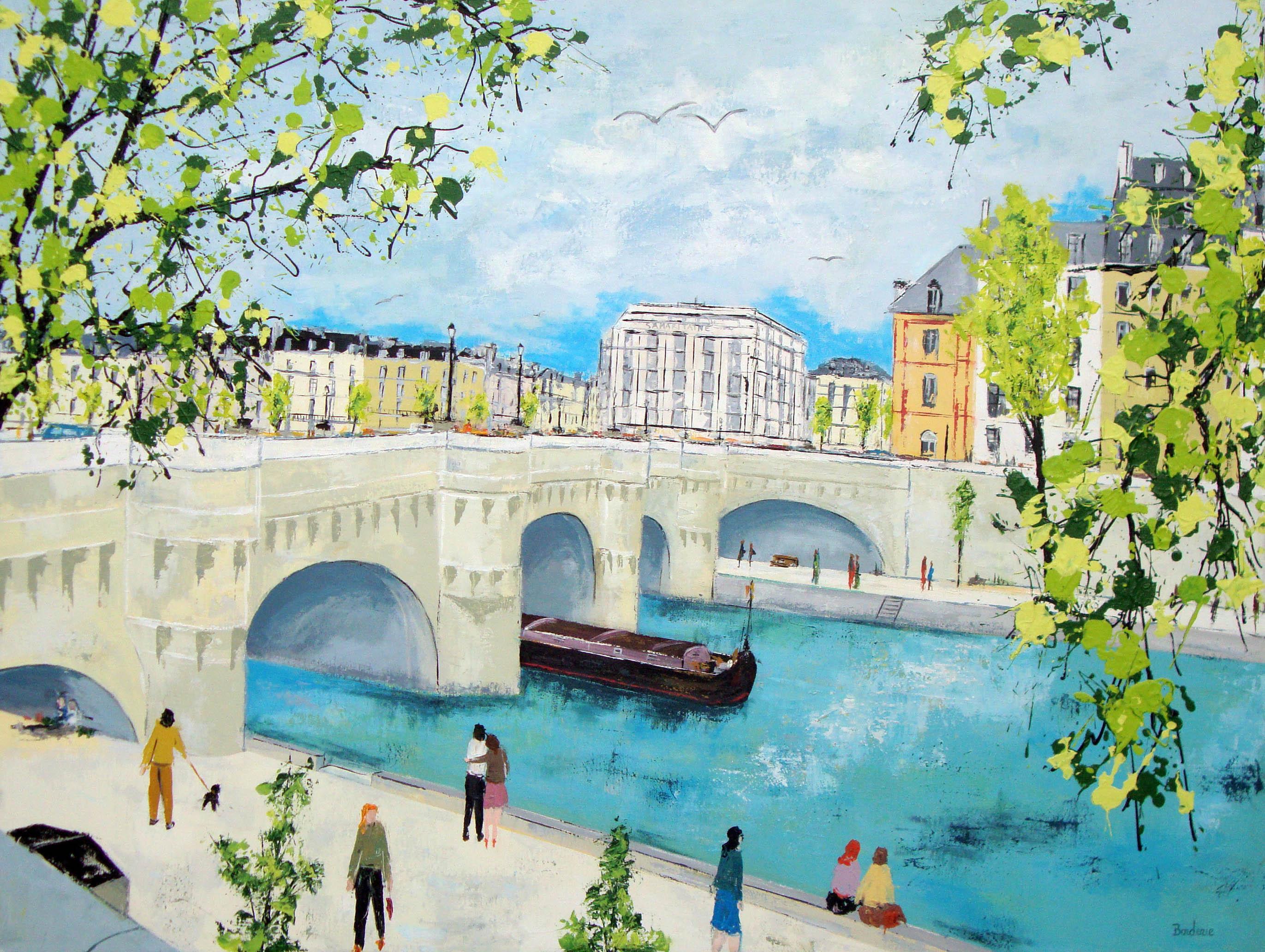 Le Pont Neuf avec en fond la Samaritaine