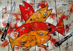 Les quatre poissons.
