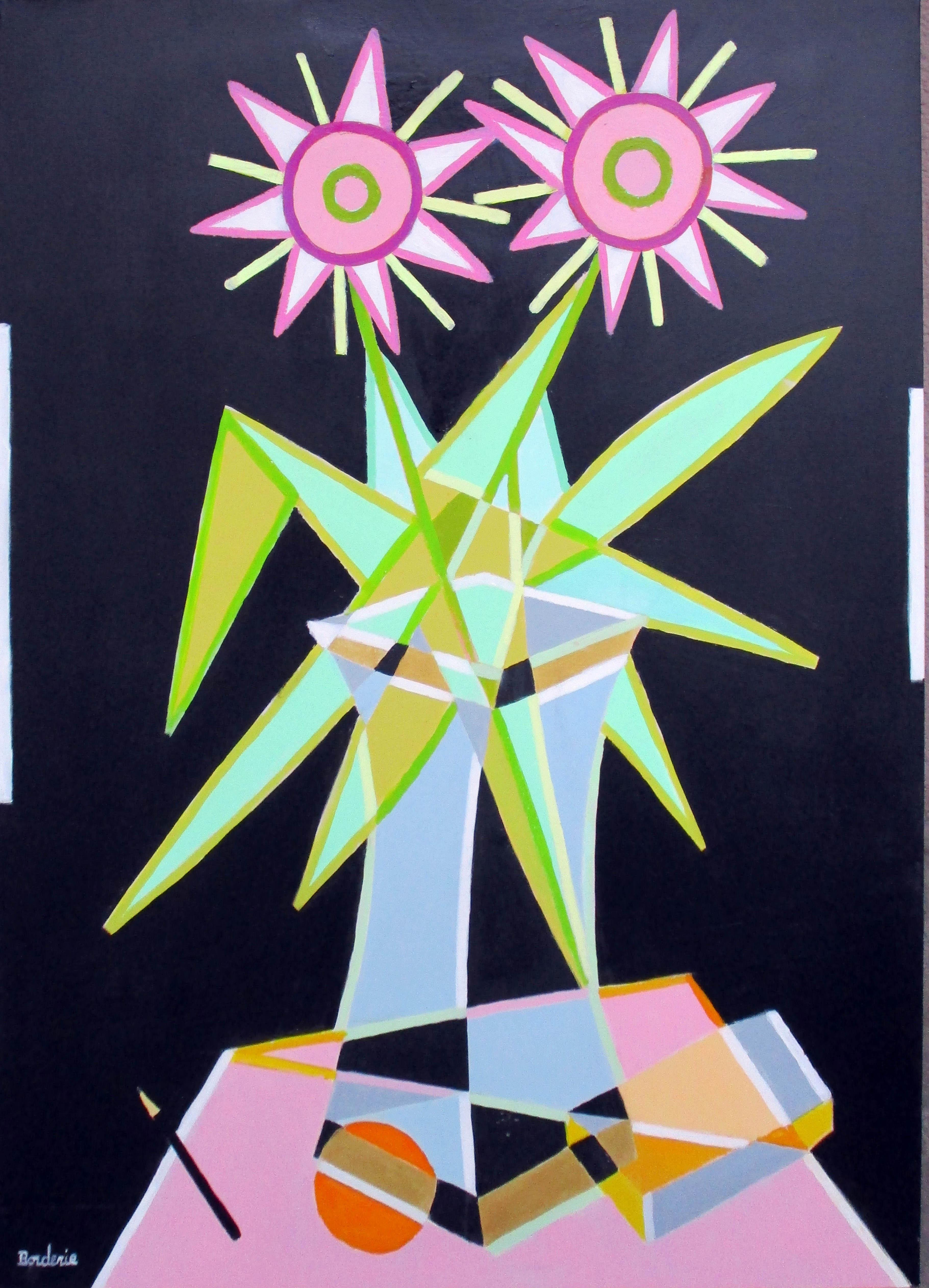 Le bouquet vert et rose 30P