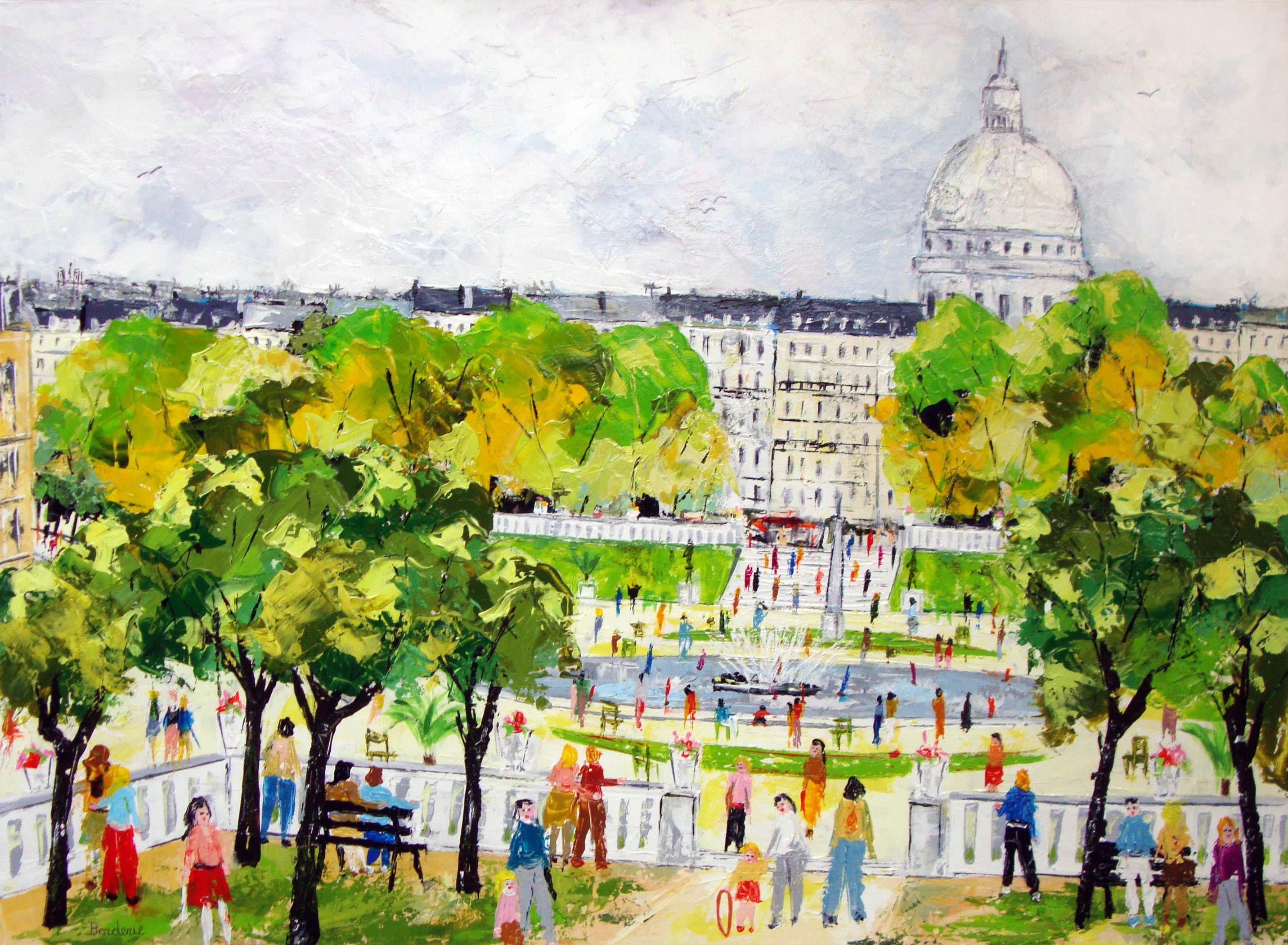 Le_jardin_du_Luxemebourg_devant_le_Panth