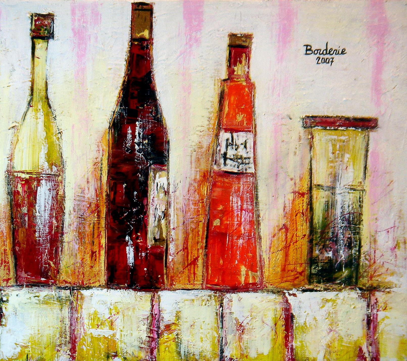 Les bouteilles.