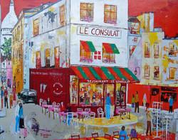 Dans une rue de Montmartre.