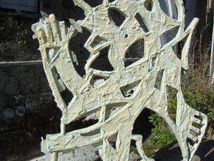 Quelques photos du moule d'une sculpture pour réaliser une résine.
