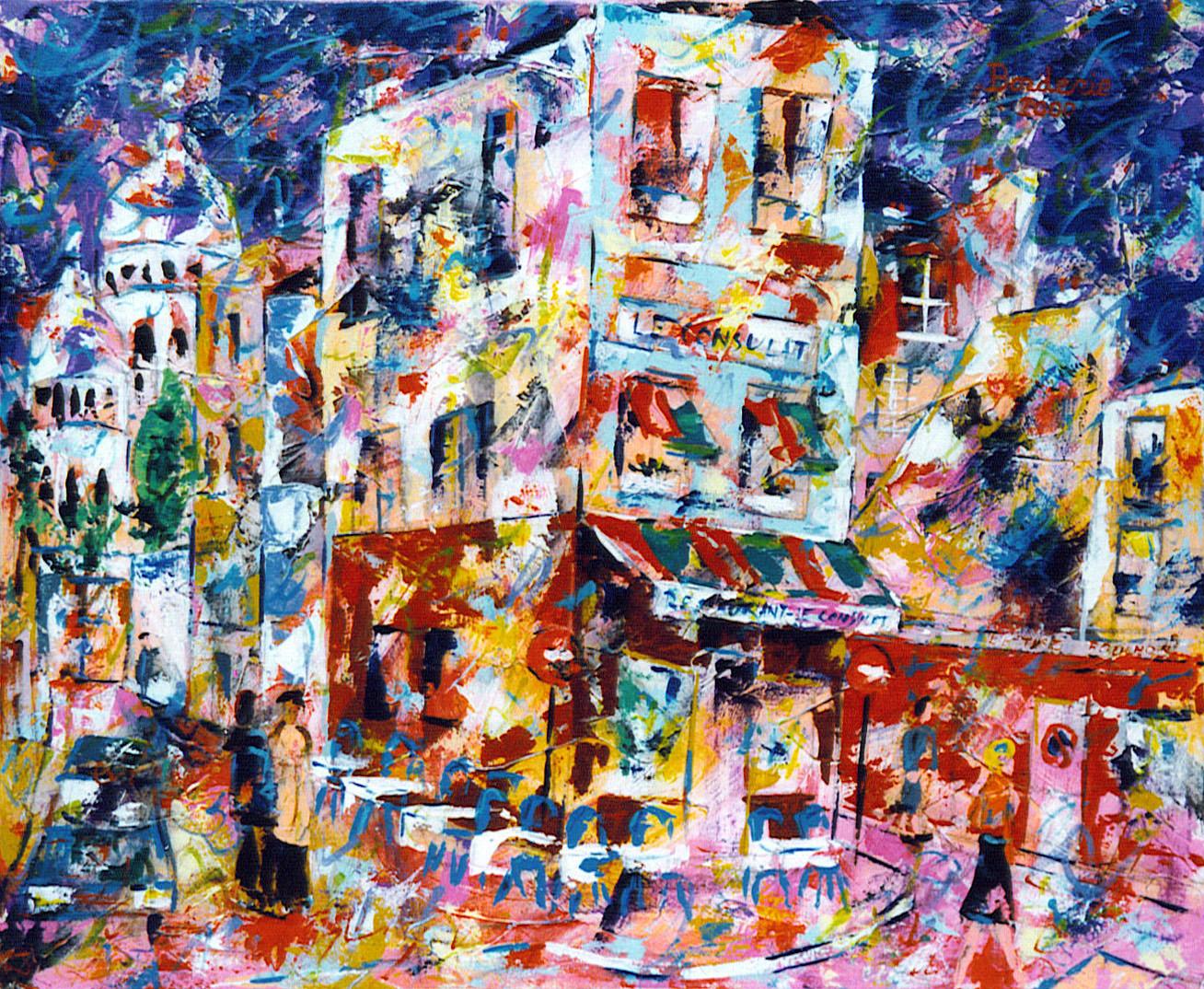 Dans une rue de Montmartre