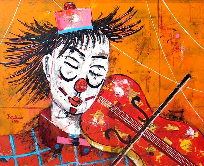 Le clown musicien.