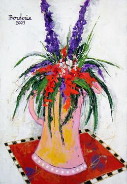 Bouquet au tapis rouge.