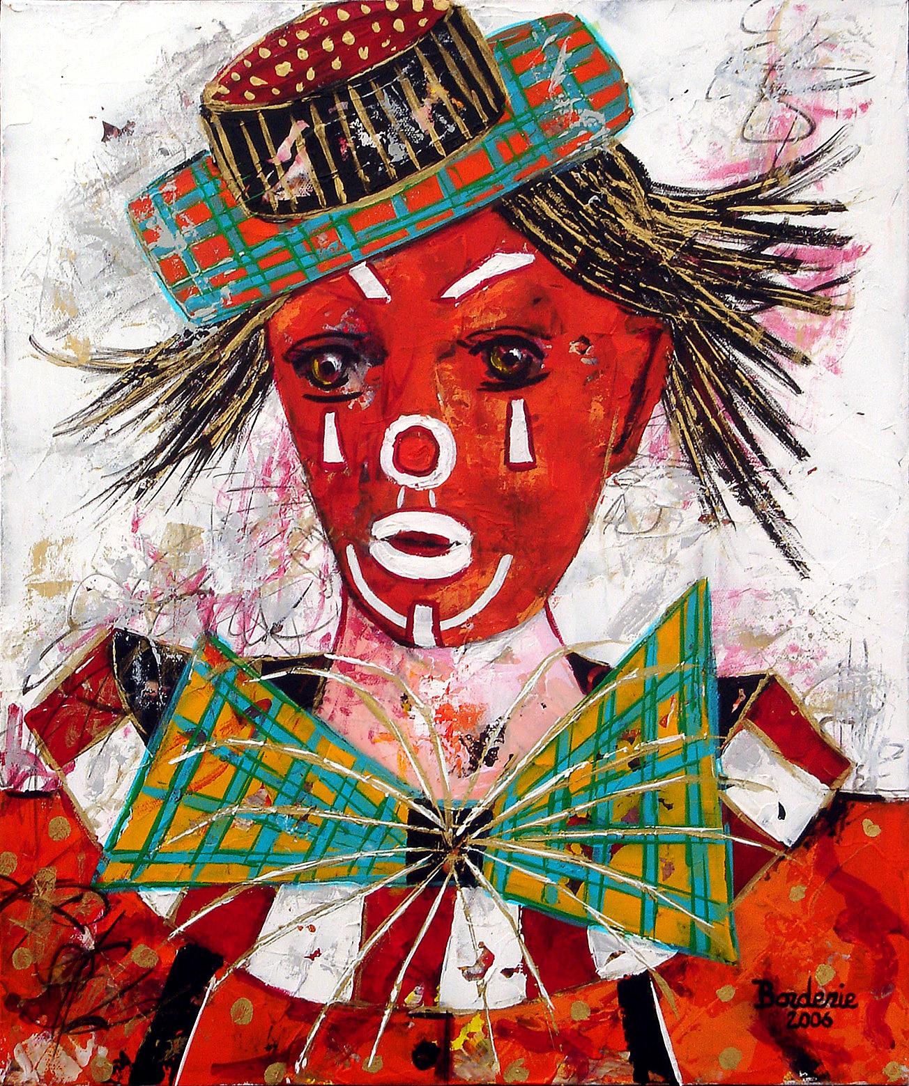 Clown au chapeau.