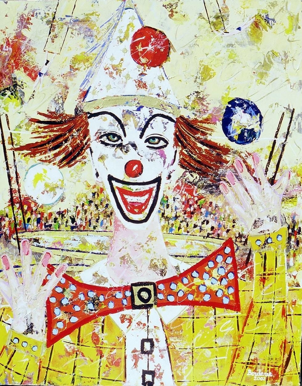 Le clown jongleur.