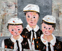 Les trois enfants.