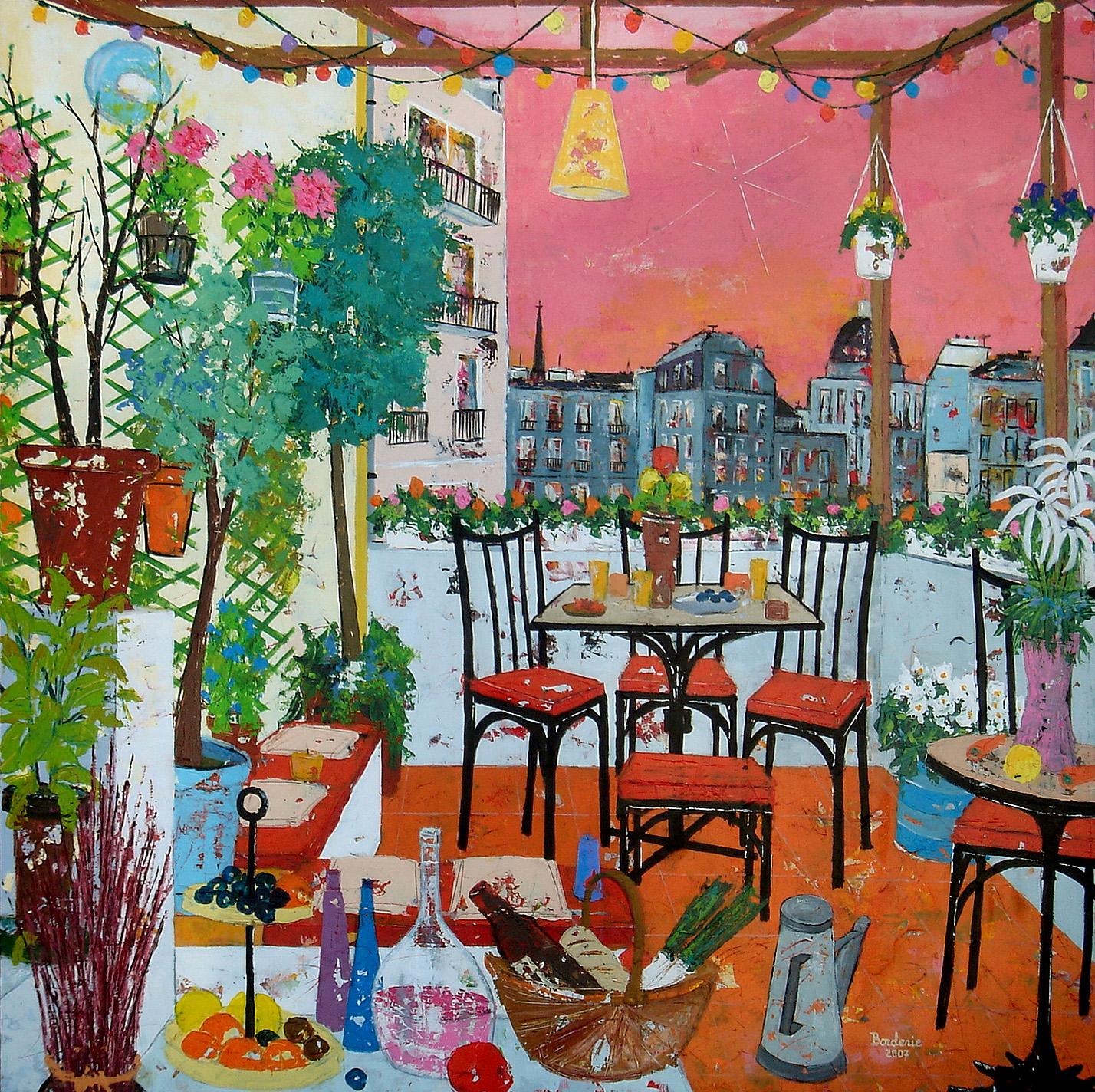 Une soirée d'été sur la terrasse