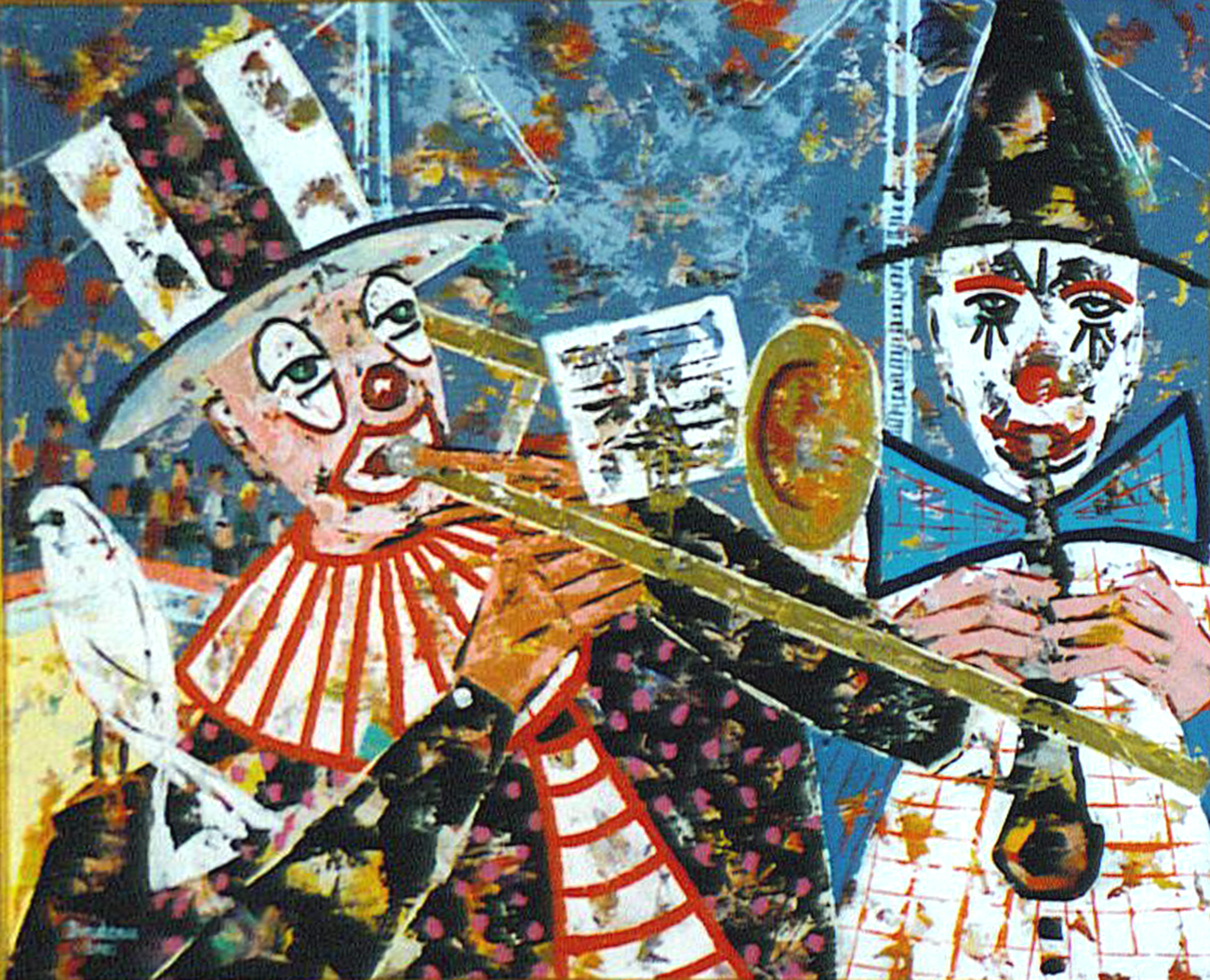 Les vieux clowns musiciens