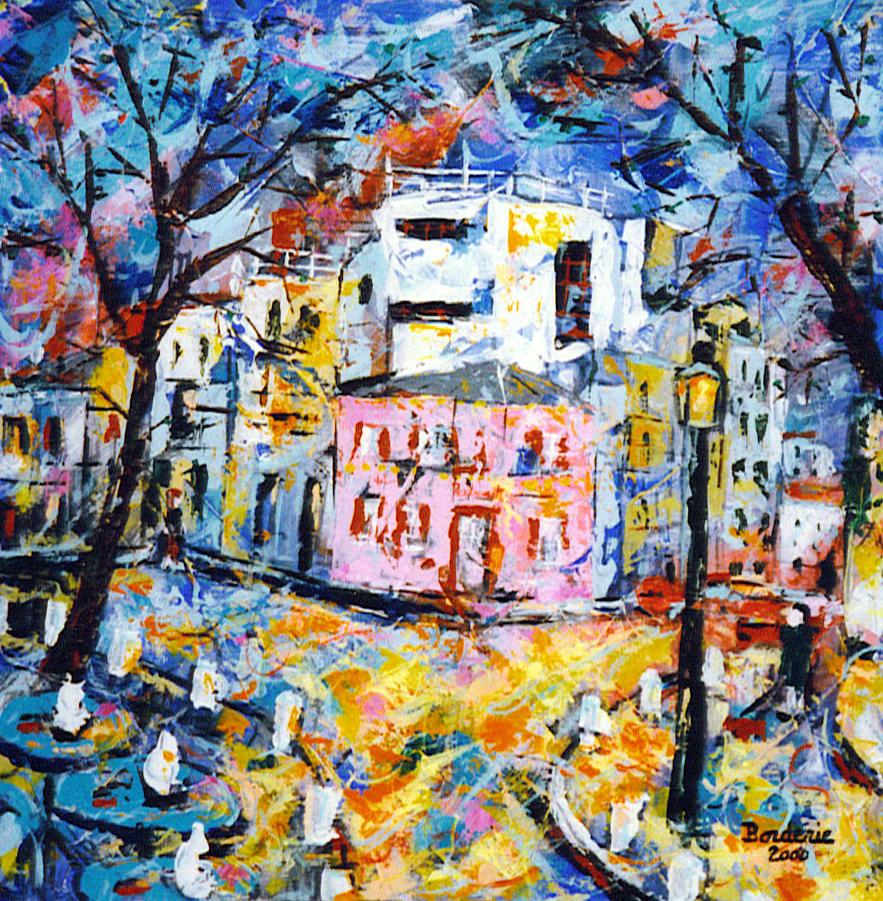 La maison rose de Montmartre . 50X50