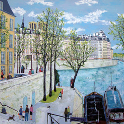 Promenade en bord de Seine 180X180.jpg