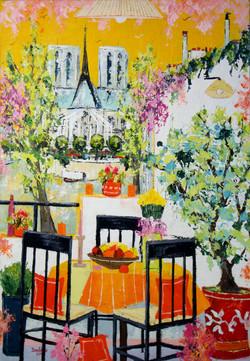 La table orange