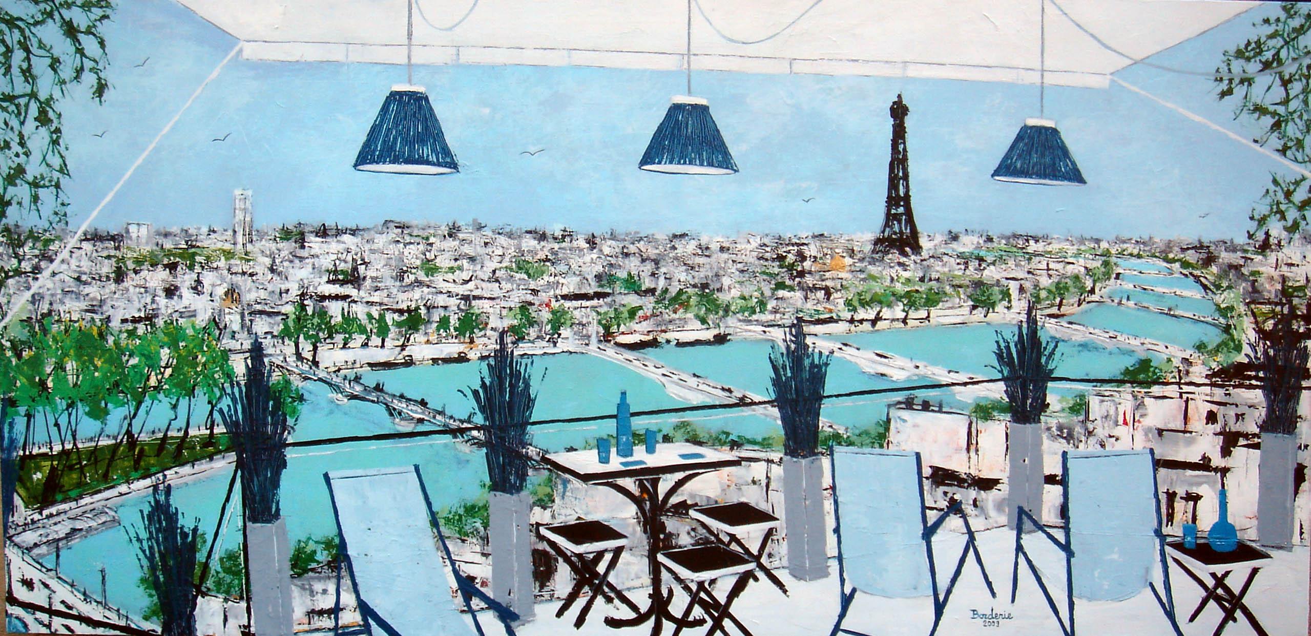 La grande terrasse avec vue sur Paris