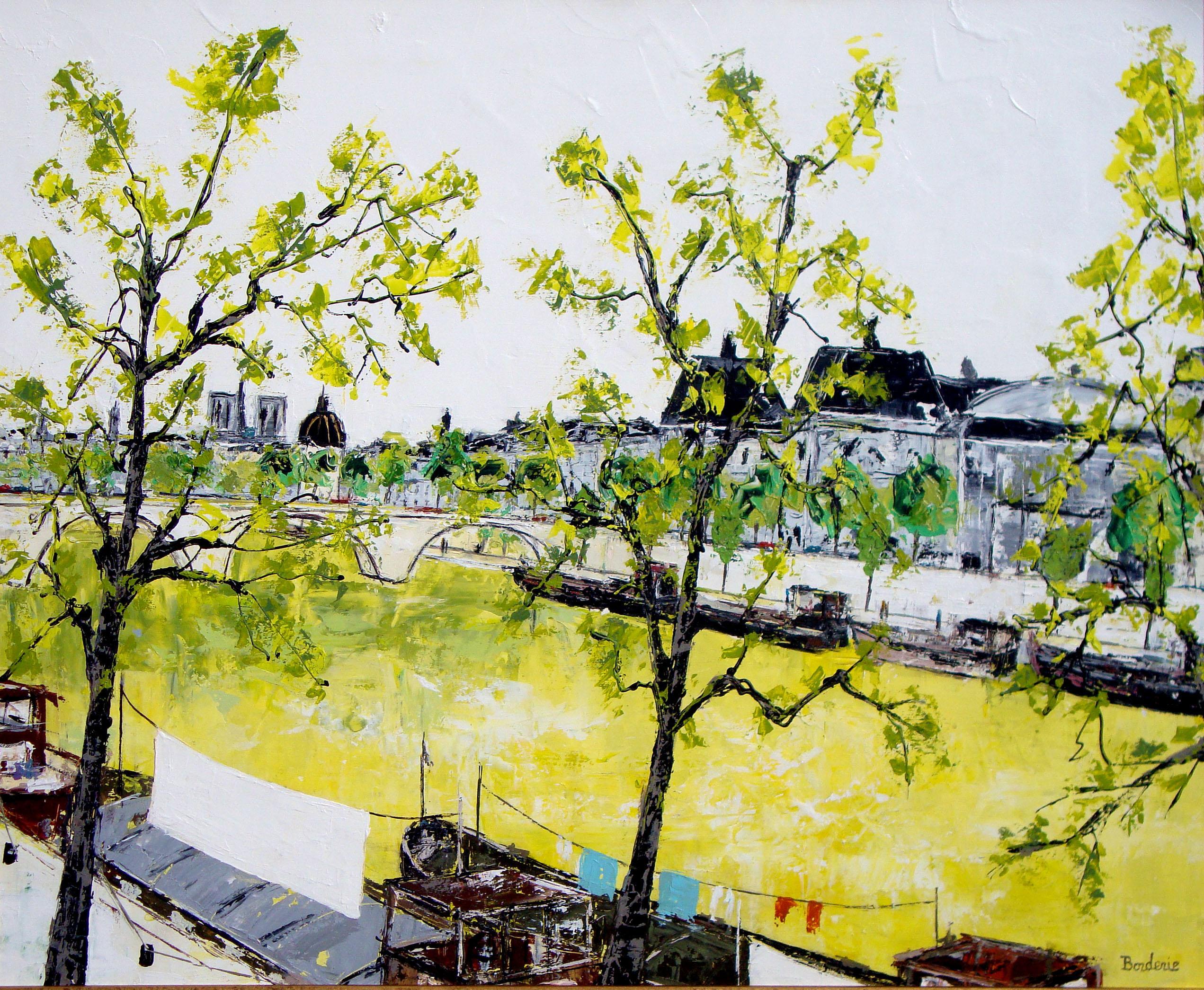 Péniches devant le Musée d'Orsay
