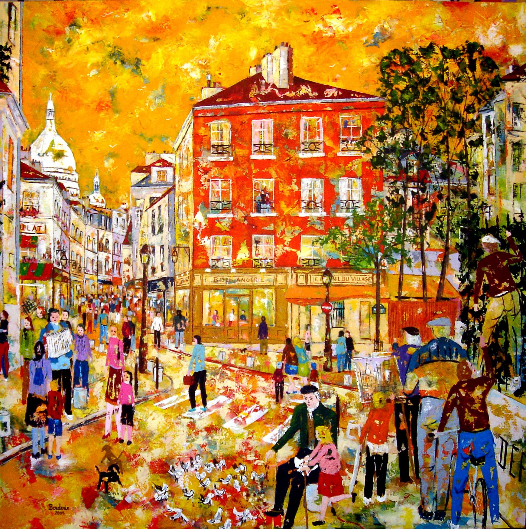 Les enfants de Montmartre et le vieil homme aux pigeons