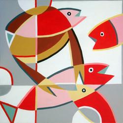 Le crabe et les trois poissons