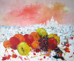 Fruits devant le Sacré-Coeur